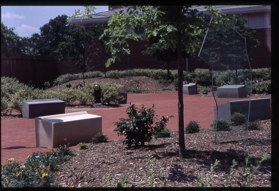 Beautiful GARDEN OF THE ARCHIVES AND HISTORY CENTER COLUMBIA, SC Fifteen Cast Stone  Benches, Three Engraved Glass Markers And Trees Marking The Three Regions  Of South ...