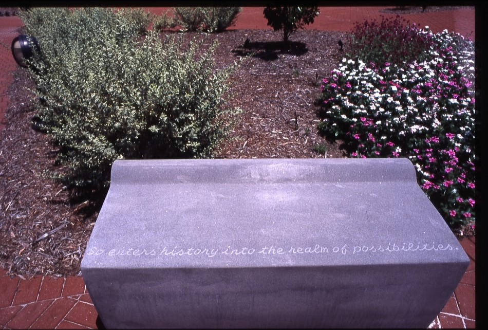 GARDEN OF THE ARCHIVES AND HISTORY CENTER COLUMBIA, SC Fifteen Cast Stone  Benches, Three Engraved Glass Markers And Trees Marking The Three Regions  Of South ...
